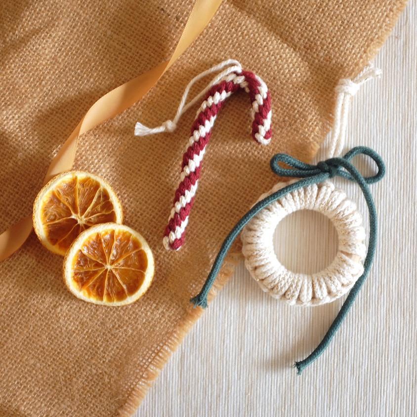 Macramé Warm and Cozy Ornament Workshop