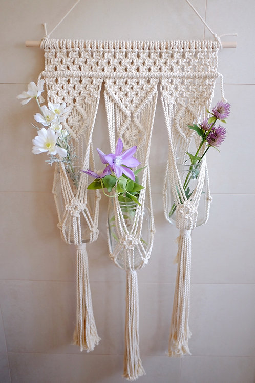 3 pot plant wall hanger