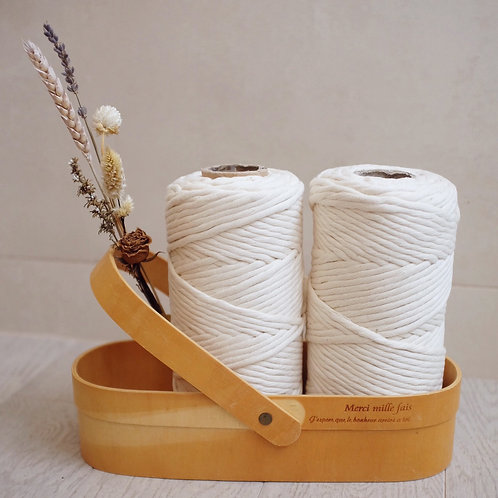 4mm Macrame Soft Cotton Rope - Natural Beige