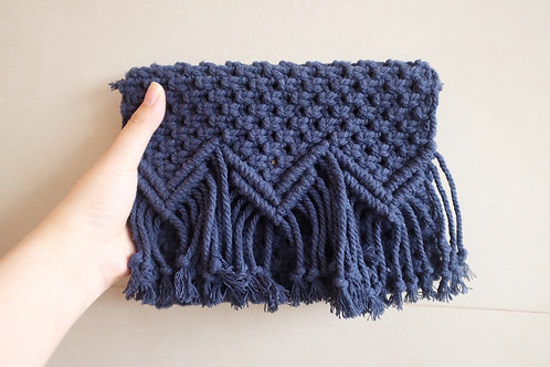 Navy Blue Clutch Bag