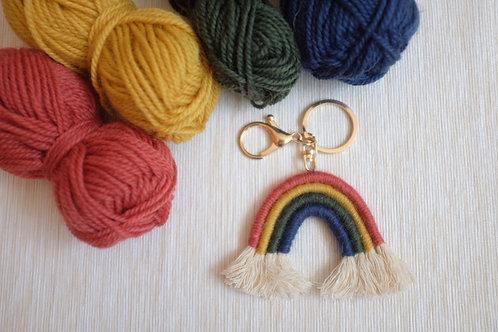 Rustic Rainbow Keychain/ Bag Charm