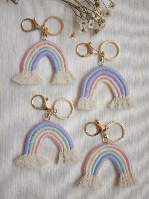 Pastel Rainbow Keyring/ Bag Charm