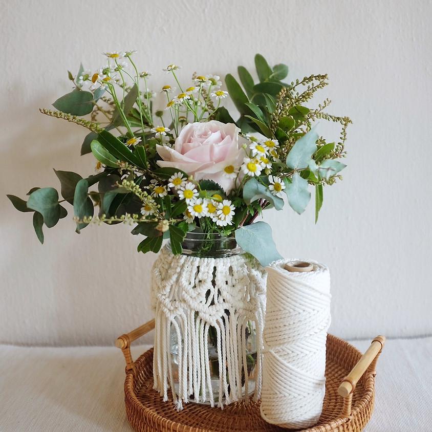 Mother's Day Workshop - Macrame Jar with Florals
