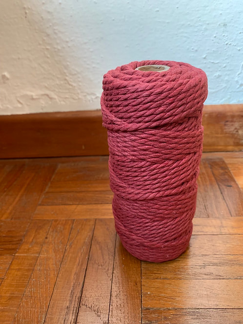 4mm 3-ply Twisted Rope - Maroon