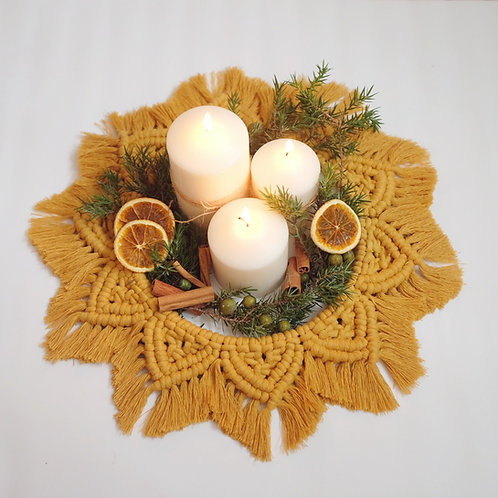 Mustard Table Wreath