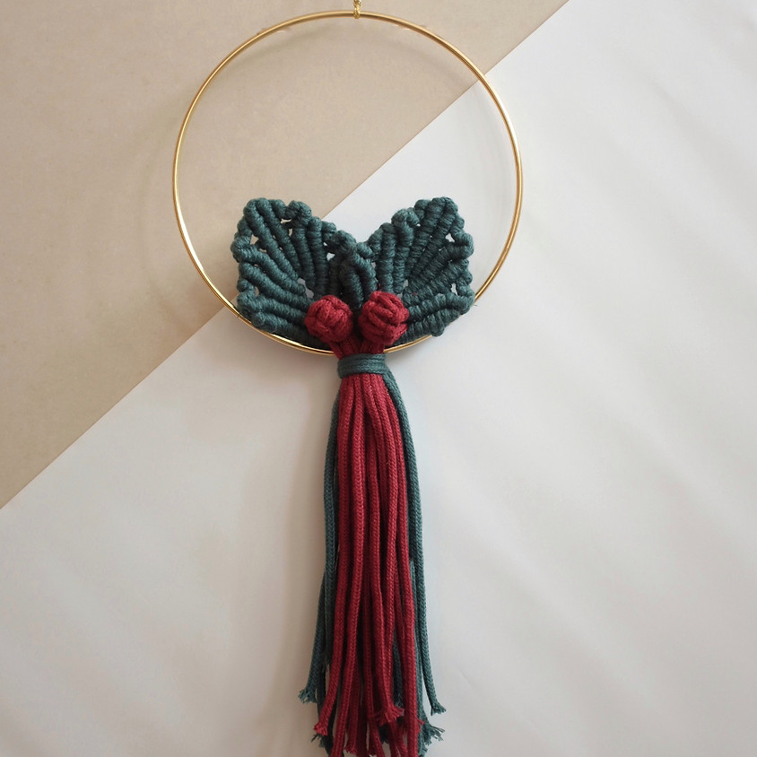 Macramé Holly Wreath Workshop