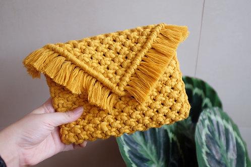 Mustard Small Clutch Bag