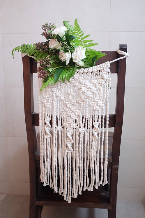 Macrame Chair Back Decor
