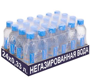 Упаковка негазированной воды Vorgol 0,33 л