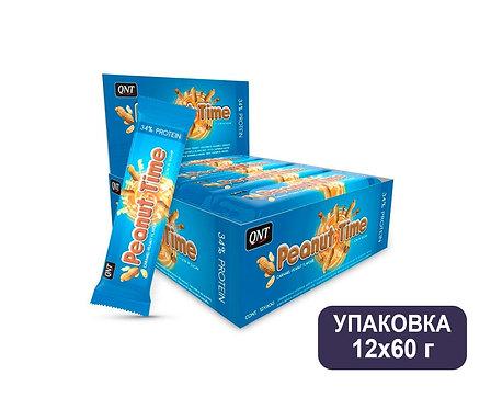 Упаковка Батончиков QNT Peanut Time. 60 г