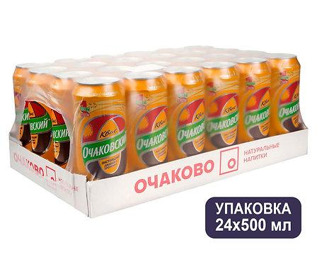 Упаковка Квас Очаковский. Ж/б. 500 мл.