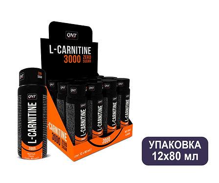 Упаковка QNT L-CARNITINE 3000 Красные фрукты. Ампулы. 80 мл