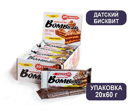 Упаковка Bombbar. Датский Бисквит. 60 г. Протеиновый батончик
