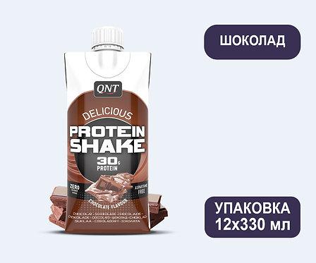 Упаковка QNT Protein SHAKE Шоколад. Тетра пак. 330 мл