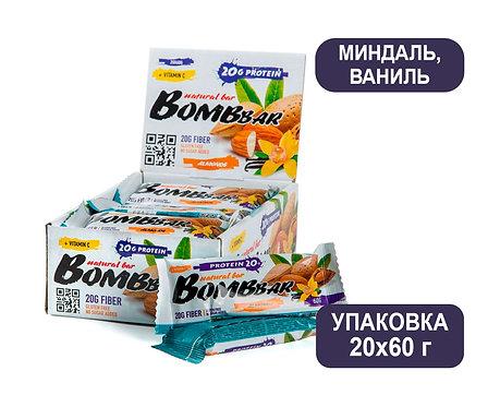 Упаковка Bombbar. Миндаль/Ваниль. 60 г. Протеиновый батончик