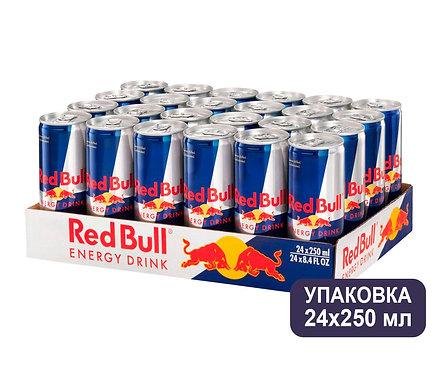 Упаковка Red Bull. Ж/б. 250 мл. Энергетический напиток