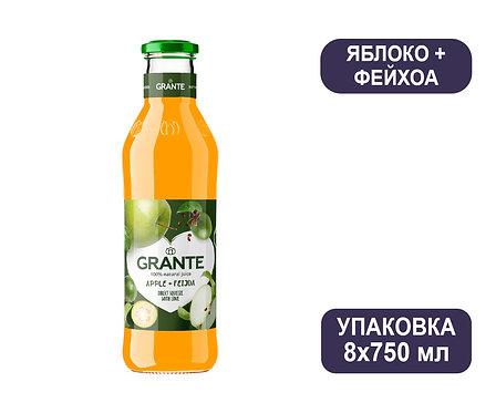 Упаковка Сок Grante Яблоко + Фейхоа. Стекло. 750 мл
