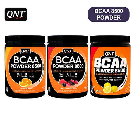 Банка QNT Powder BCAA 8500. 350 г. (Лимон, Лесные ягоды, Апельсин)