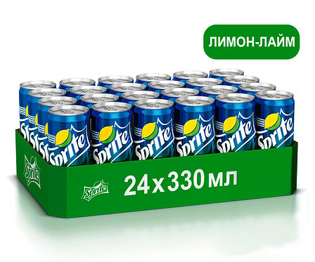 Упаковка Sprite. Ж/б. 330 мл