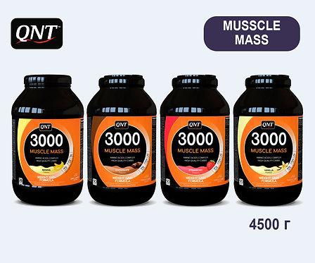 Банка QNT Muscle Mass 3000. 4,5 кг. (Банан, Клубника, Шоколад, Ваниль)