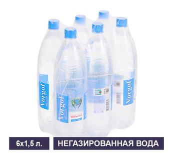 Упаковка негазированной воды Vorgol 1,5 л