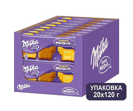 Коробка Milka Choco Moooo. Печенье. 120 г.