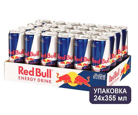 Упаковка Red Bull. Ж/б. 355 мл. Энергетический напиток