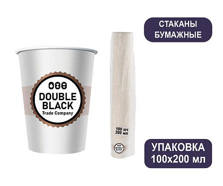 Упаковка стаканов 200 мл. Бумажные