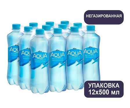Упаковка Aqua Minerale. Негазированная. Питьевая вода. ПЭТ. 500 мл