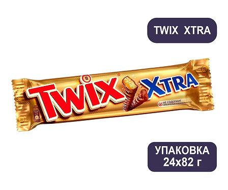 Упаковка Twix Xtra. Шоколадный батончик. 82 г.