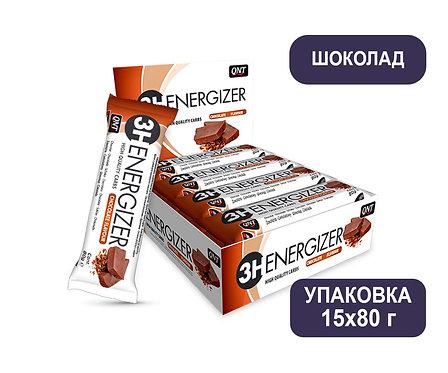Упаковка Батончиков QNT 3H Energizer BAR. Шоколад. 80 г