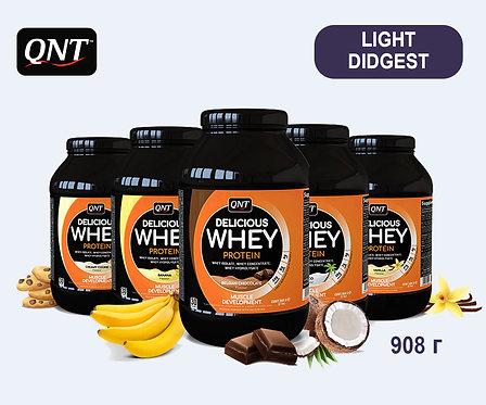 Банка QNT Delicious Whey. 908 г. (6 вкусов)