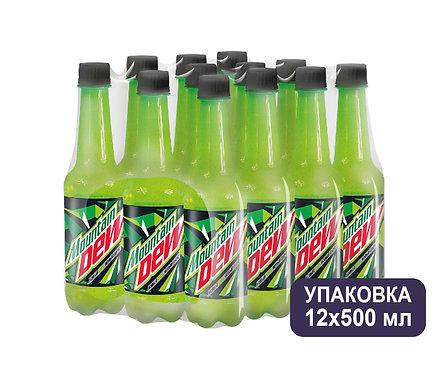 Упаковка Mountain Dew. ПЭТ. 500 мл.