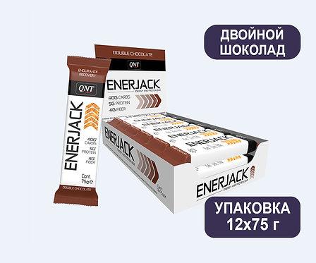 Упаковка Батончиков QNT Enerjack. Двойной шоколад. 75 г