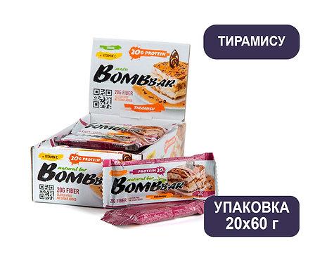 Упаковка Bombbar. Тирамису. 60 г. Протеиновый батончик