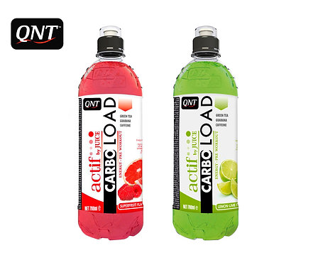 Упаковка QNT. Carbo Load. ПЭТ. 700 мл. (Супер фрукты, Лимон-лайм)