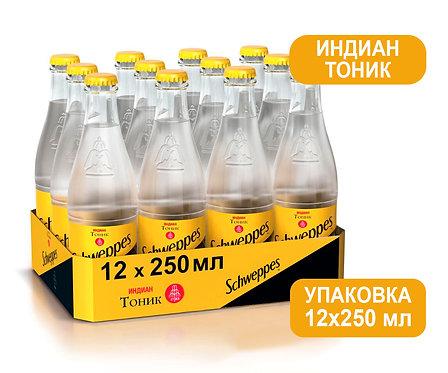 Упаковка Schweppes Индиан Тоник. Стекло. 250 мл.