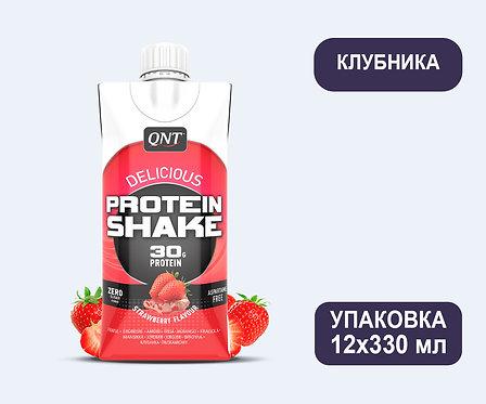 Упаковка QNT Protein SHAKE Клубника. Тетра пак. 330 мл
