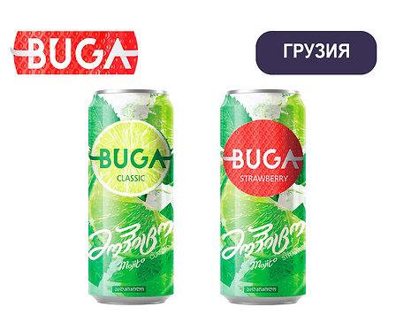 Упаковка Мохито BUGA. Ж/б. 330 мл (классик, клубника) - Грузия