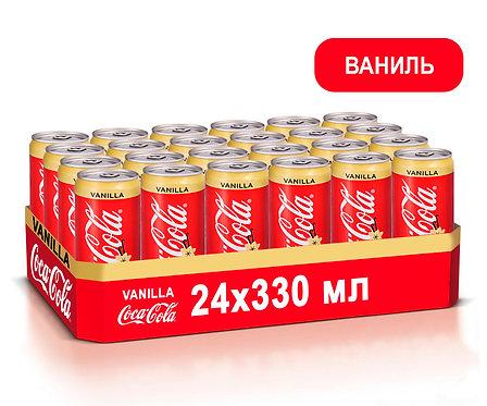 Упаковка Coca-Cola Ваниль. Ж/б. 330 мл.