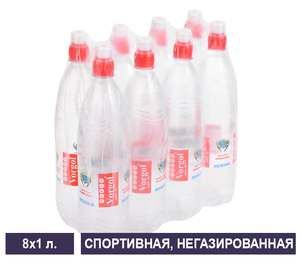 Упаковка спортивной негазированной воды Vorgol 1 л
