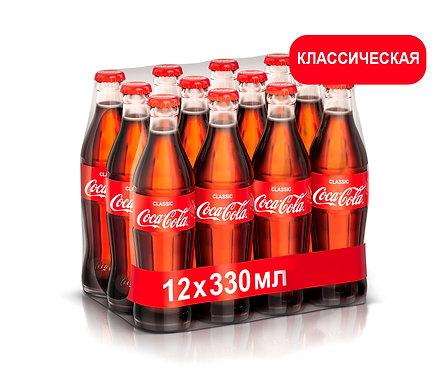 Упаковка Coca-Cola. Стекло. 330 мл (Классический вкус)