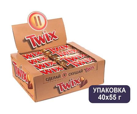 Упаковка Twix. Шоколадный батончик. 55 г.
