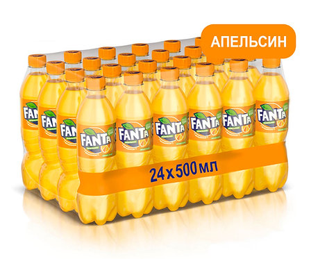 Упаковка Fanta. ПЭТ. 500 мл