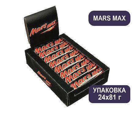 Упаковка Mars Max. Шоколадный батончик. 81 г.