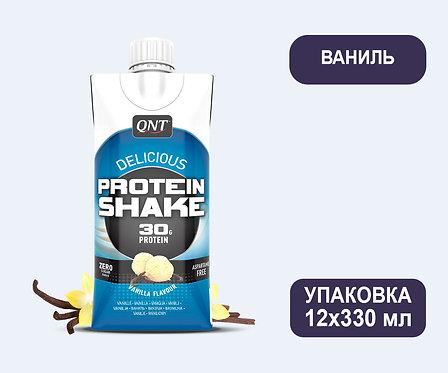 Упаковка QNT Protein SHAKE Ваниль. Тетра пак. 330 мл