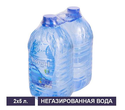 Вода Vorgol. Упаковка негазированной. ПЭТ. 5 л