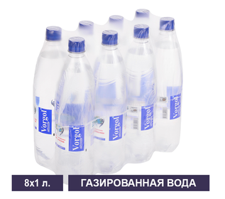 Упаковка газированной воды Vorgol 1 л