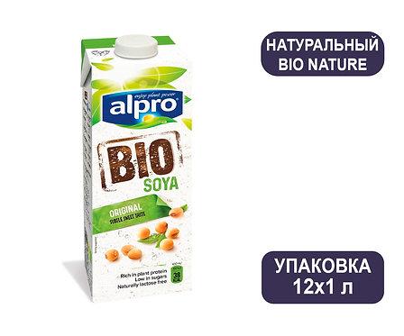 Коробка ALPRO Bio Nature. Натуральный соевый напиток. Тетра пак. 1 литр