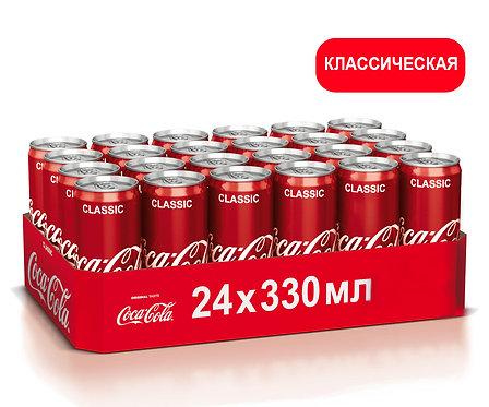 Упаковка Coca-Cola. Ж/б. 330 мл. Классический вкус